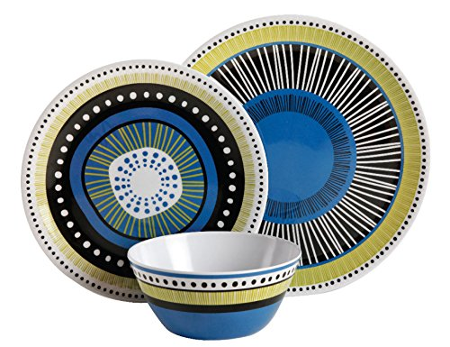 Gibson Home 107282.12 Almira 12 Piece Melamine Dinnerware (Set of 4), Assorted by Gibson Home (Image #4)