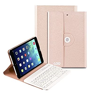 Coo iPad Mini 1 2 3 Bluetooth Keyboard Cases with 360 Degree Rotation and Multi-angel Stand by COO