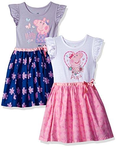 Peppa Pig Girls' Toddler' 2 Pack Dresses Multi c 2T