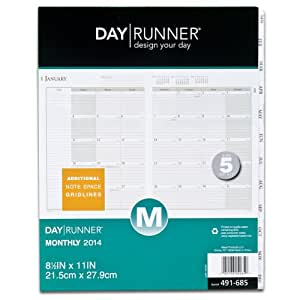 Day Runner 2014 Monthly Tabbed Planner Refill, 8.5 x 11 Inches (491-685)