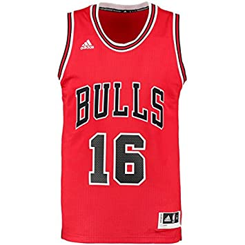 buy online fe1d7 9b844 Adidas Mens Int Swingman 16 Bulls Red nba chicago bulls 1 -RedBlack,