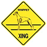 KC Creations Whippet Xing Caution Crossing Sign Dog Gift