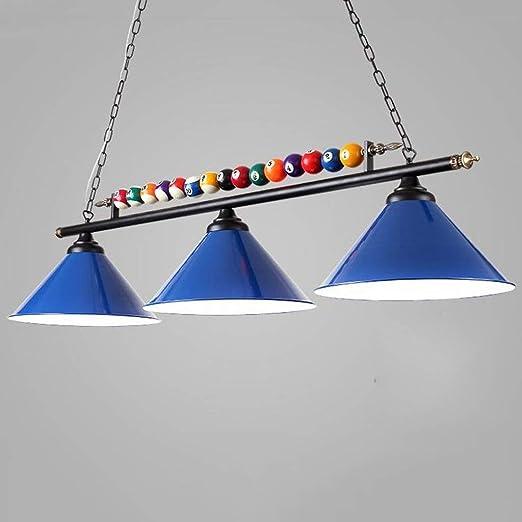 LI LU SHOP Lámpara de Billar, Personalidad de led, Forjado, Sala ...