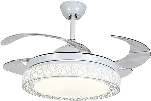 TANMIN Ventilador de Techo con iluminación de Control Remoto de ...