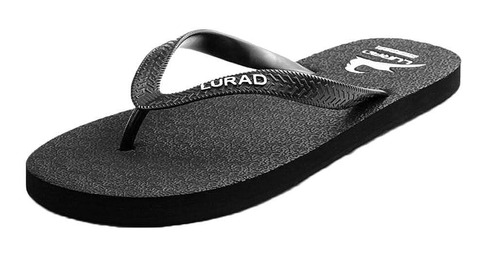 Men's Flip Flops Casual Black Slippers Shoes East Majik