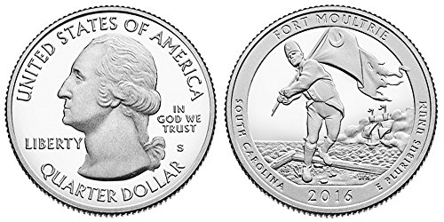 2016 S Fort Moultrie National Park Silver Proof Quarter PF1