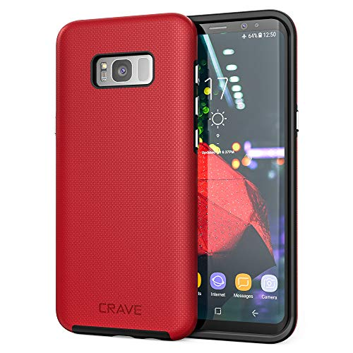 S8 Plus Case, Crave Dual Guard Protection Series Case for Samsung Galaxy S8 Plus - Red