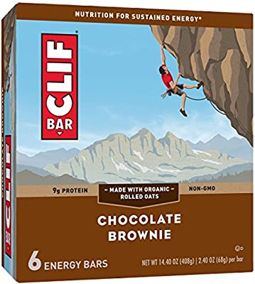 CLIF BAR - Energy Bar - Chocolate Brownie - (2.4 Ounce Protein Bar, 6 Count) by Clif