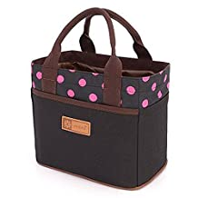 Muitifunction Canvas Bento Lunch Bag for Picnic Travel Tote Lunch Bag with Rope Belt Stylish
