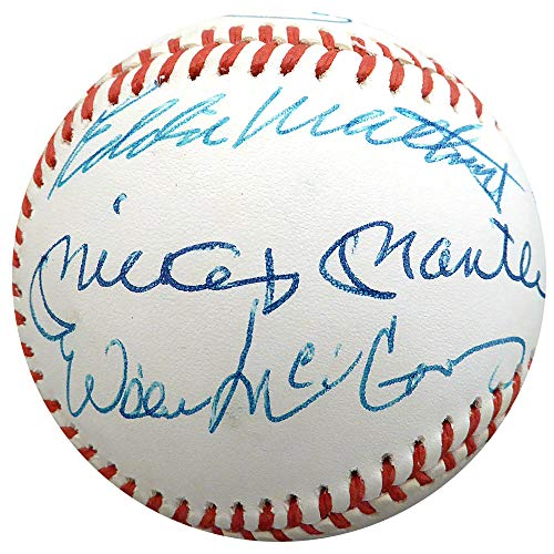 500 HR Club Autographed Official AL Baseball With 10 Total Signatures Including Mickey Mantle, Willie Mays & Hank Aaron PSA/DNA - Willie Mays Signature
