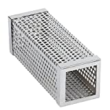 VYVERN Stainless Steel BBQ Grill Smoking Mesh Tube Smoker Wood Pellet Outdoor BBQ Smoker Supplies Tools Accessories (6 inch square (33))