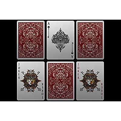Gamblers Warehouse Magic Trick   Bicycle Spirit II Red MetalLuxe Playing Cards   Collectable Playing Cards: Toys & Games