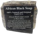 Black Soap Raw African Soap, 100% Organic Pure, 1 lb.