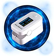Pulse O_ximeter, Accurate Heart Rate Monitor (Without Battery and Lanyard) - White