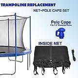 Upper Bounce Super Net & Pole Cap Set Fits For 14' Round Trampoline Frames Using 8 Poles