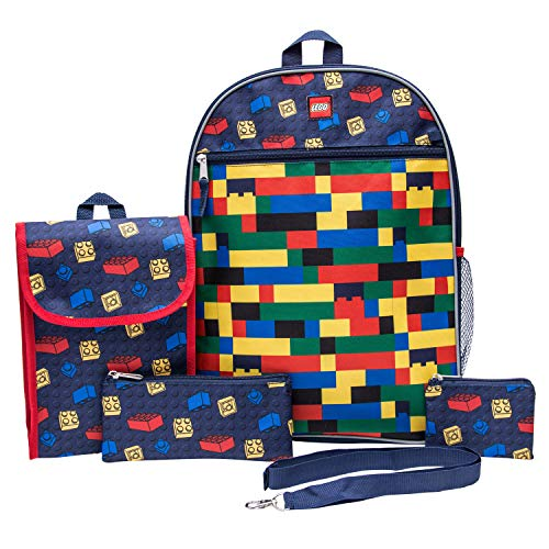 - LEGO Classic Backpack Combo Set - Lego Boys' 5 Piece Backpack Set - Lego Backpack & Lunch Kit (Navy)