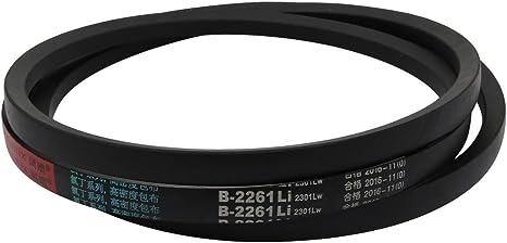 B-35 V Belt Machine Transmission Rubber,Black Replacement Drive Belt.