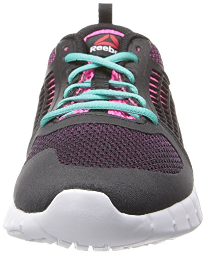 Reebok Women's Zquick 2.0 Running Shoe Black/Solar Pink/White/Timeless Teal WJ7MUCP