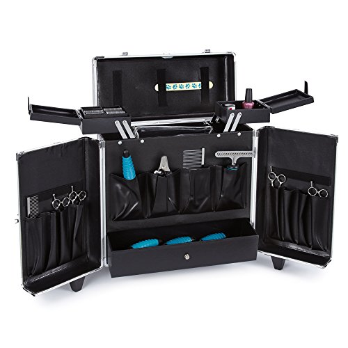 Top Performance Grooming Tool Cases with Wheels - Durable and Versatile Aluminum Cases Designed for the Storage of Grooming Tools and Supplies for the Professional Pet Groomer, Graffiti Black by Top Performance (Image #1)