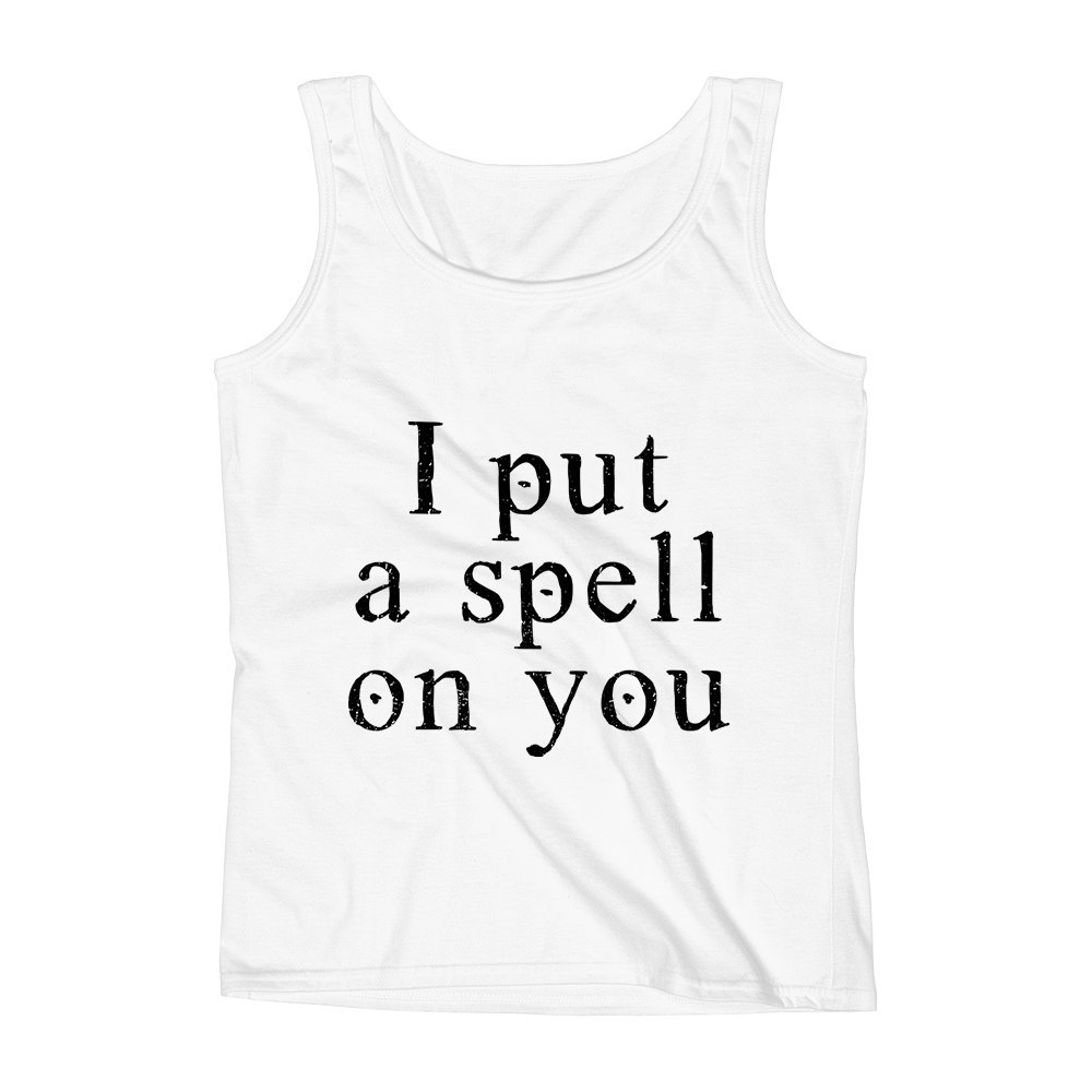 Mad Over Shirts I Put A Spell on You Magic Wand Powers Unisex Premium Tank Top