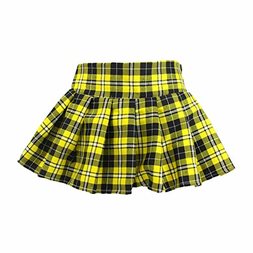 Costume Golf Scottish (Plaid Schoolgirl Costume Skirt (S/M,)