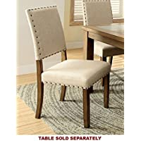 247SHOPATHOME IDF-3531SC Dining-Chairs, Brown