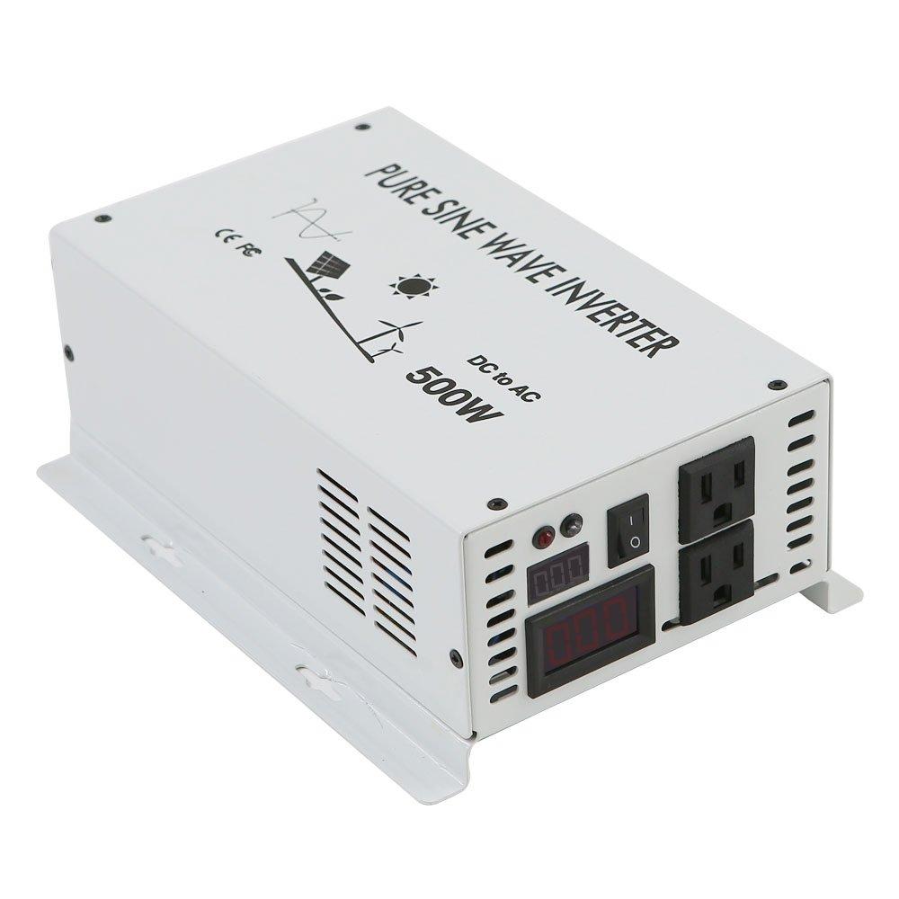 WZRELB 500w Pure Sine Wave Solar Power Inverter 24v 120v 60hz