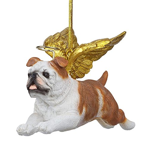 Christmas Tree Ornaments - Honor The Pooch Bulldog Holiday Angel Dog Ornaments