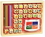 Melissa & Doug Wooden Stamp Set, Favorite Things - 26 Wooden Stamps, 4-Color