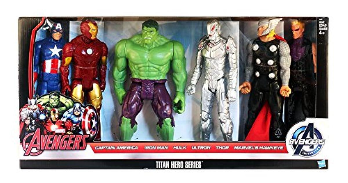 [해외] 마블 어벤져스 TITAN 히어로 시리즈 6팩(캡틴 아메리카,아이언맨,헐크,울트론,토르 천둥의 신,호크 아이)