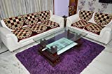 Maroon JacobBricks 5Seater Sofa Cover By House Attire