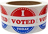 I Voted Today Stickers 2 Inch 500 Adhesive Stickers