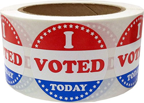 I Voted Today Stickers – 2″ Adhesive Stickers Qty. 500