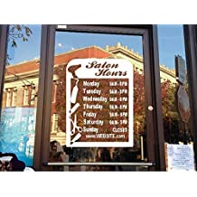 StickerLoaf Brand STORE HOURS CUSTOM WINDOW DECAL BUSINESS SHOP Storefront VINYL DOOR SIGN COMPANY salon hair nails beauty salon massage nail aesthetics extensions supply color perm