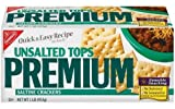Nabisco Premium Saltine Crackers, Unsalted Tops, 16 oz (Pack 9)