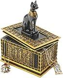 6'' Ancient Egyptian Cat Goddess Bastet Treasure Jewelry Box by XoticBrands