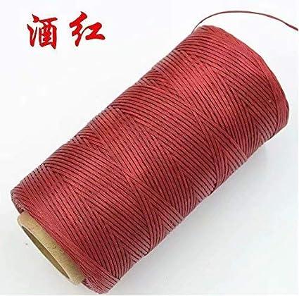 84bf5d9dc91d Bobine de fil plat ciré 260M pour cuir maroquinerie bricolage DIY ...