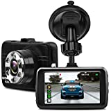 FHD 1080P Car Camera - Dash Cam 170 Wide Angle 3.0 LCD, Dashboard Camera Video Recorder DVR with Night Vision, G-Sensor, WDR, Loop Recording, Motion Detection and Parking Monitor