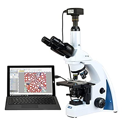 OMAX 40X-2000X USB3 18MP PLAN Infinity Trinocular Siedentopf LED Lab Compound Biological Microscope