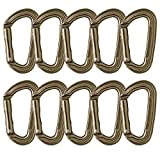 Fusion Climb Contigua II Military Color Edition Grooved Straight Gate Key Nose Carabiner Dusty Brown 10-Pack
