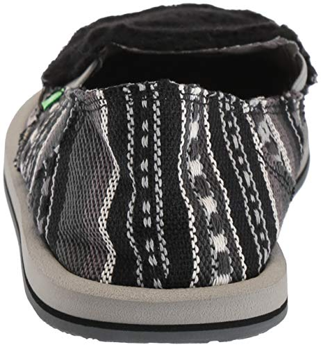 09 white Women's Us Blanket Sherpa Blanket Sanuk M Flat Loafer Donna Black zSHnqw0d