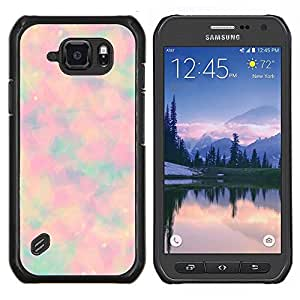 Eason Shop / Premium SLIM PC / Aliminium Casa Carcasa Funda Case Bandera Cover - Extracto psicodélico del teñido anudado - For Samsung Galaxy S6 Active G890A