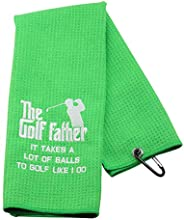 Funny Golf Towel Gift The Golf Father It Takes A Lot of Balls to Golf Like I Do Father's Day Birt