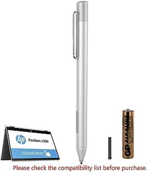 Amazon Com Stylus Active Pen For Hp Pavilion X360 11m Ad0 14m Ba013dx 14 Cd0 15 Br0 X2 10 K0xx Hp Envy X360 15 Bp0 15m Bp1 360 15m Bp012dx X2 13 J0xx 15 C0xx Hp Spectre X360 13 Ac0xx 15 Bl0xx Silver Computers