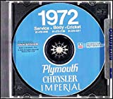 1972 PLYMOUTH REPAIR SHOP & SERVICE MANUAL & BODY MANUAL CD INCUDES: Barracuda, 'Cuda, Roadrunner, Satellite (Regent, Sebring, Sebring Plus, and Custom), Duster, Duster 340, Scamp, Scamp Special, Valiant,Gran Sedan, Gran Coupe 72