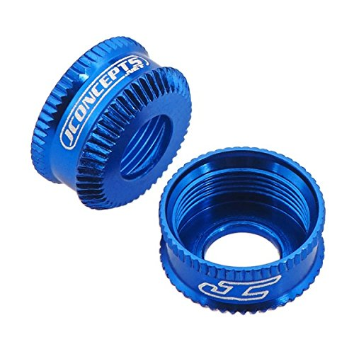 Jconcepts 2492-1 Fin VCS Shock Bottom Cap Blue (2pcs), 2492-1 (Bottom Shock Cap)