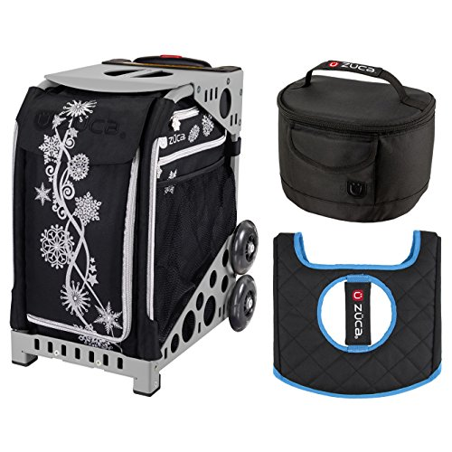 ZUCA Sport Bag - Silver Shimmer with Gift Lunchbox and Seat Cover (Gray Frame) ()