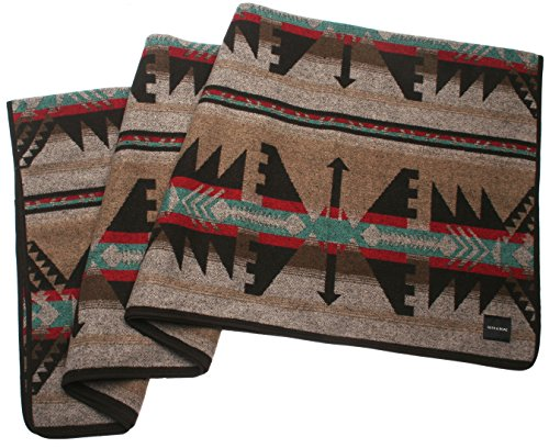 RUTH&BOAZ Outdoor Wool Blend Blanket(A) Inka Pattern (Brown, Normal) ()