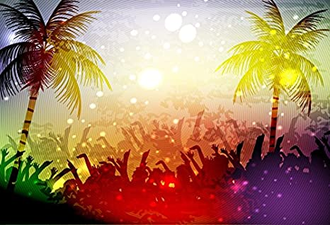 Amazoncom Lfeey 9x6ft Summer Party Photo Backdrop Palm