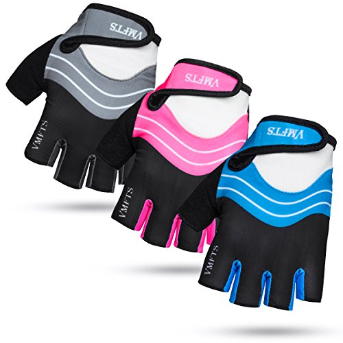 VMFTS Cycling Gloves Gel Pading Fingerless Sporting Glove for Weightlifting Racing Biking Climbing Parkour Running